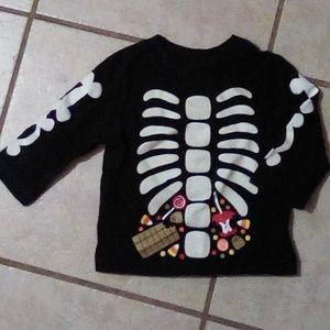 Halloween Skeleton Long Sleeve Baby Top 6-9 Mos🎃